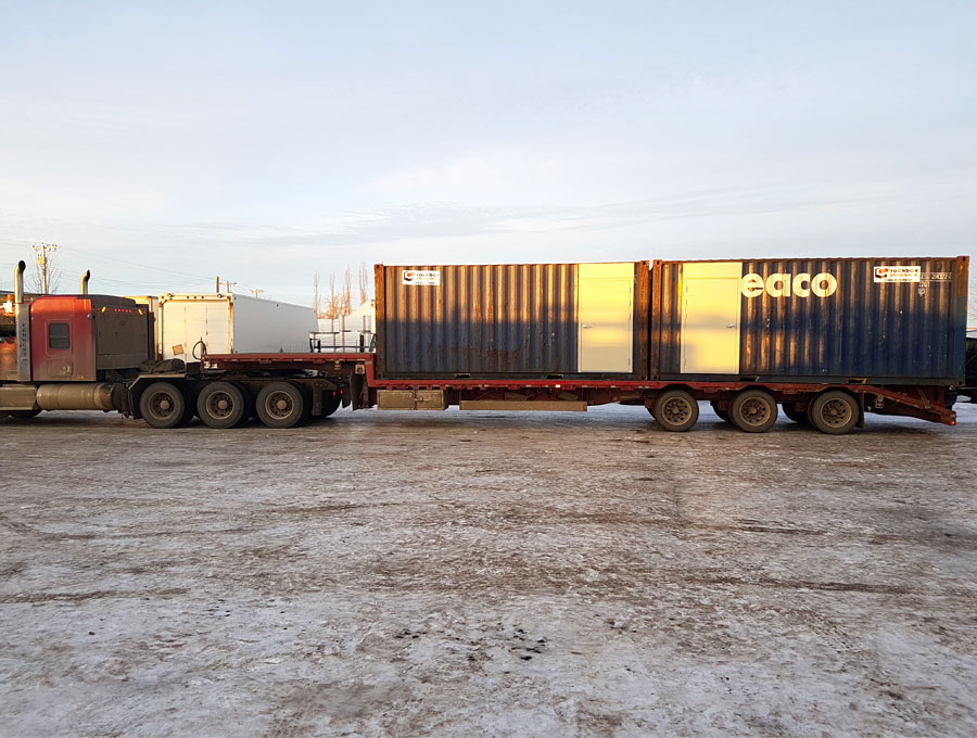 Empty Sea Can Container Delivery Service Edmonton and Calgary, Alberta